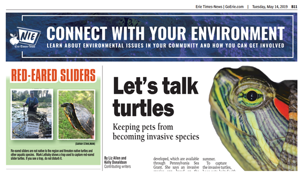 Pennsylvania Sea Grant Educates and Inspires Students and Adults through the Connect with Your Environment Newspaper Page