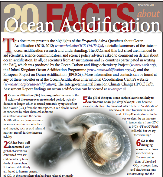 Tools for Effective Communication of Ocean Acidification Science and Policy