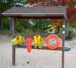 Safety Buoys at the Beach