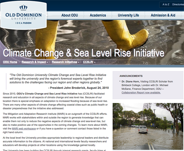 Hampton Roads Sea Level Rise and Flooding Adaptation Forum