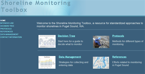 Puget Sound Shoreline Monitoring Toolbox