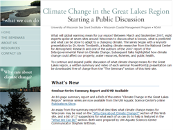 Climate Change Implications and Adaptation Strategies for Great Lakes Ports, Harbors and Marinas