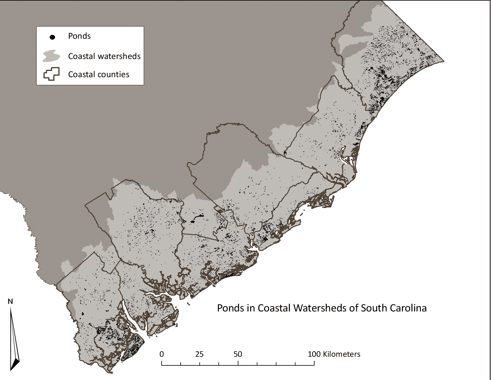 Coast Of South Carolina Map.Stormwater Ponds In South Carolina Challenges And Opportunities
