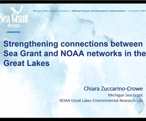 Webinar with the Great Lakes Environmental Research Lab Sea Grant Liaison